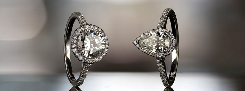 Round Shape and Pear Shape Engagement Rings